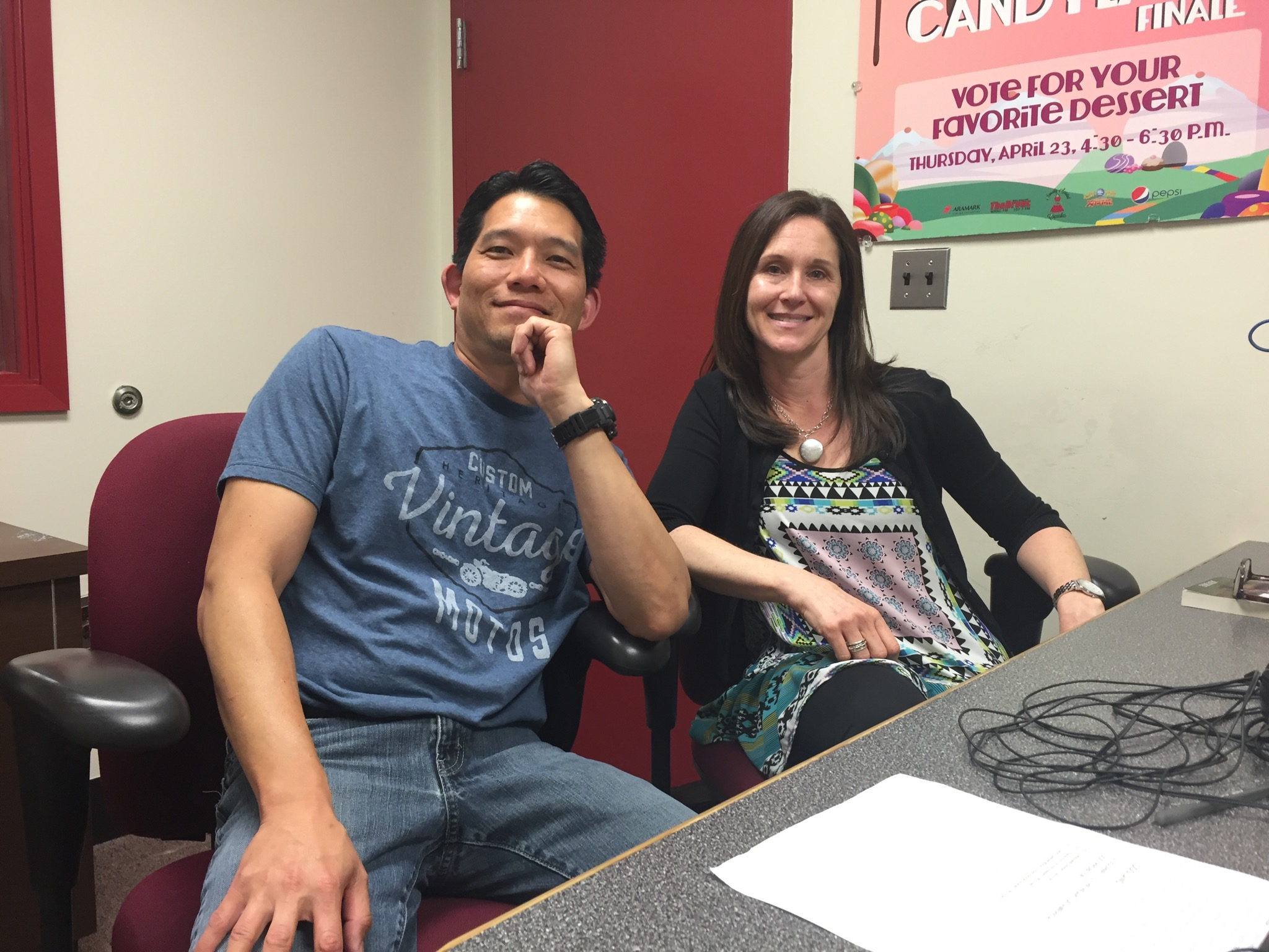 August 20, 2016 – Dr. T and Jacki Skole in our studio.