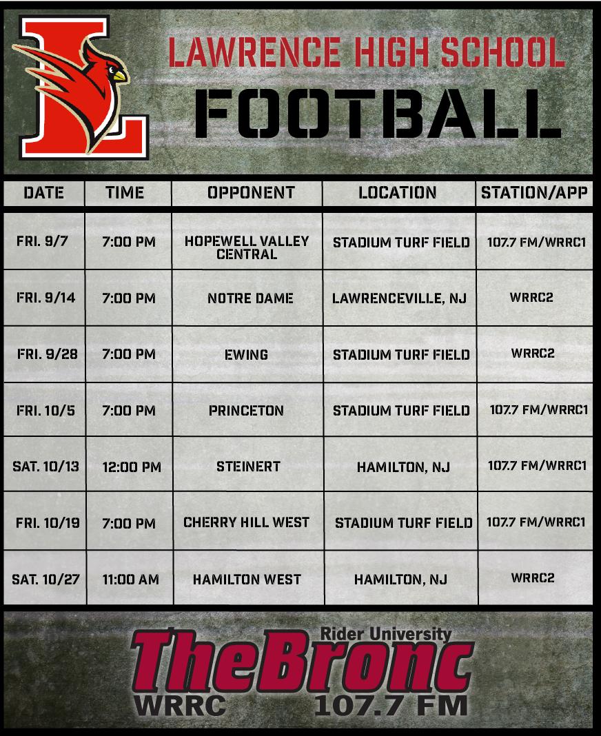 Mercer county high school football schedule